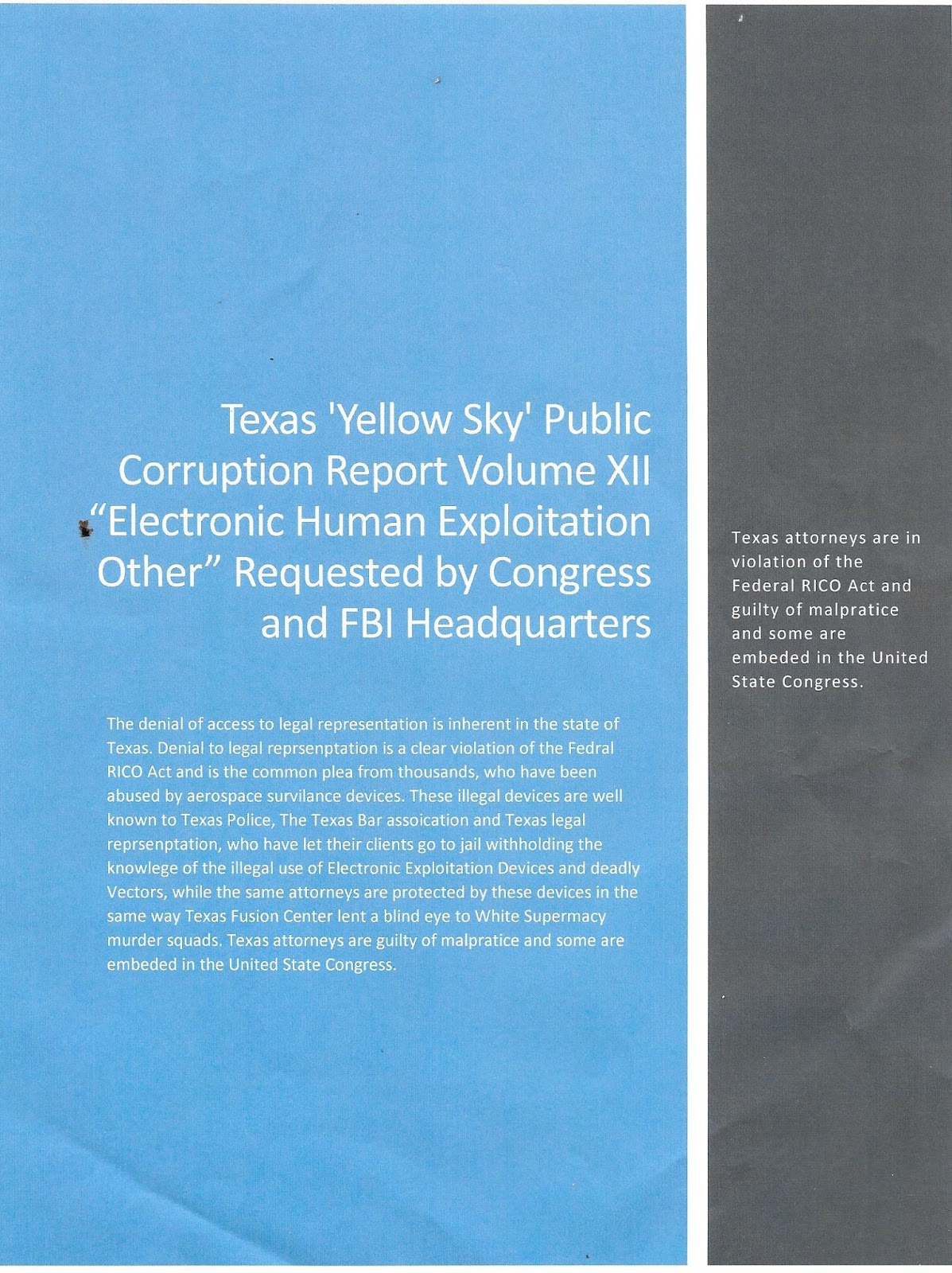 corruption thesis statement