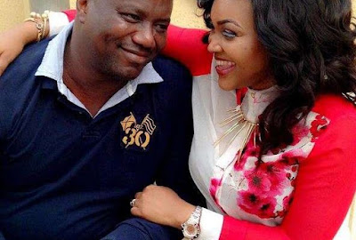 Mercy Aigbe and husband