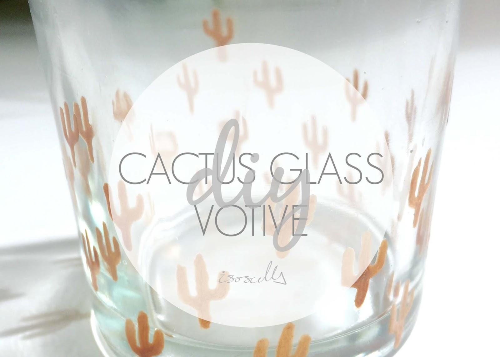 DIY Copper cactus glass votive by Isoscella