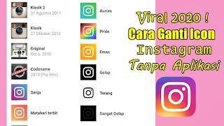 Cara Ganti Icon Instagram Tanpa Aplikasi Terbaru 2020