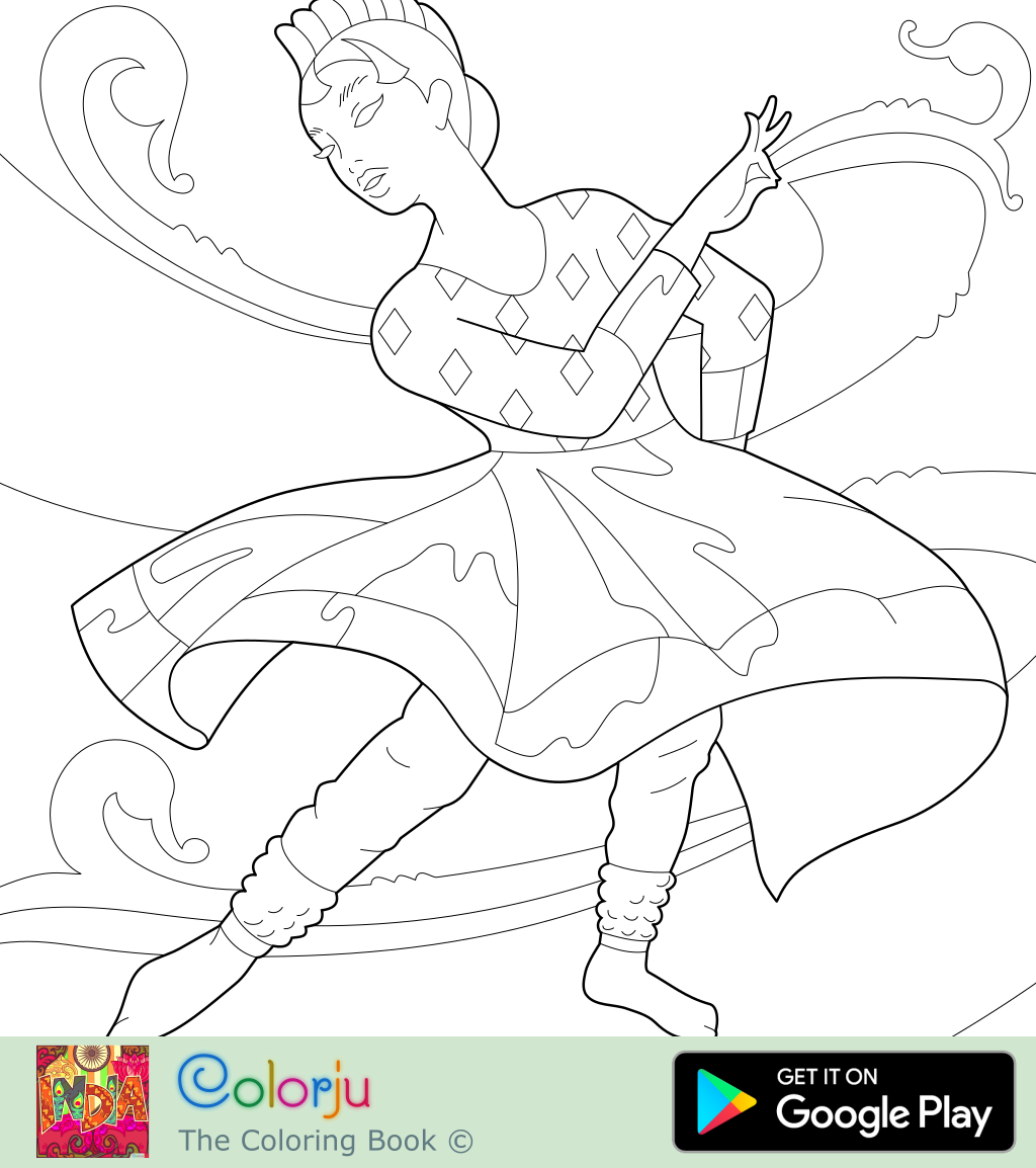 coloring pages D: Dancing coloring pages 1