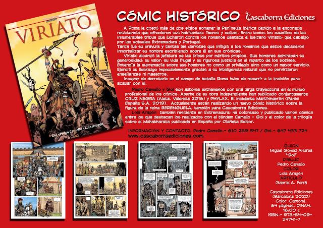 Cómic histórico sobre VIRIATO, realizado por Pedro Camello y Miguel Gómez Andrea.