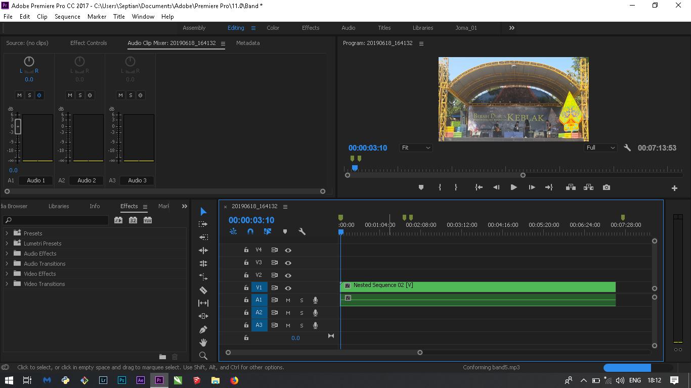 cara export video menjadi mp3 adobe