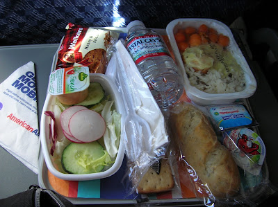 Comida vuelo Boeing 757 AA Madrid - Nueva York