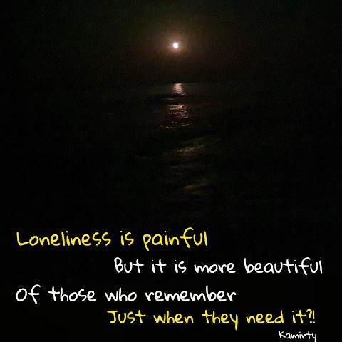 الوحدة مؤلمة (Loneliness is painful)