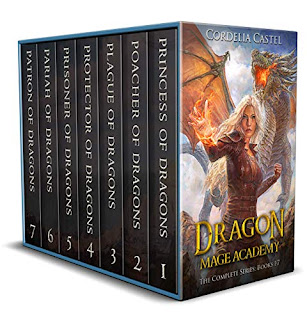 Dragon Mage Academy - a fantasy adventure book marketing by Cordelia Castel