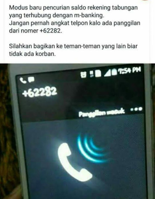 Panggilan +62282, Jangan Angkat, Uangmu Bakal Amblas! Benarkah?