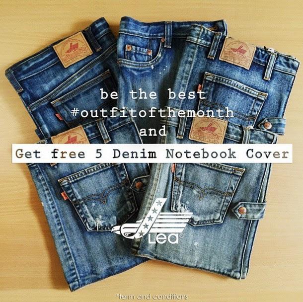 Kontes Selfie Lea Jeans Hadiah 5 Denim Notebook Cover