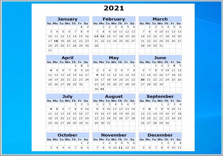 Μοναδικά δωρεάν ημερολόγια για το 2021