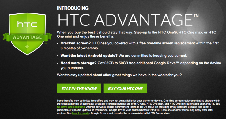 HTC Advantage flagship
