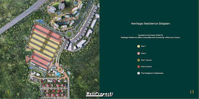 siteplan heritage puri 11