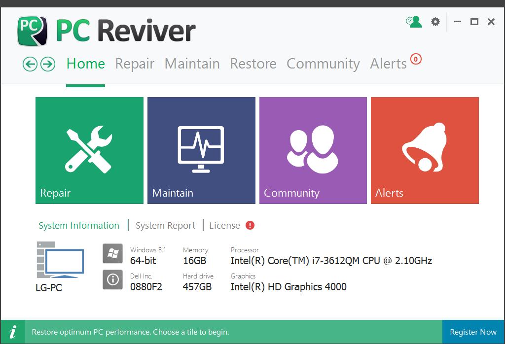 عمل صيانة شاملة لجهازك عن طريق العمالقة PC Reviver مع التفعيل