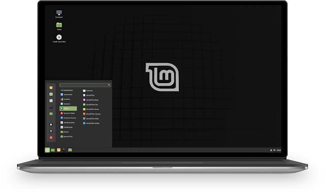 Tampilan Linux Mint Cinnamon