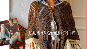 Cómo tejer Poncho Crochet con Cuadros Calados / Video Tutorial