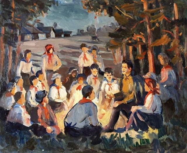 «Пионерский костер», Дунчев Сергей Яковлевич, 1980 г.