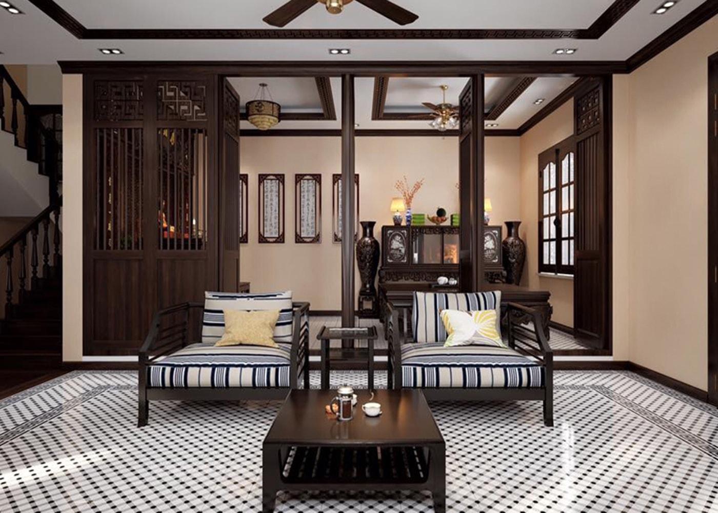 Phòng khách căn Villa
