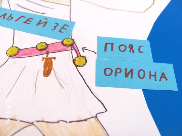 """Созвездие Ориона на урок """"Окружающего мира"""""""