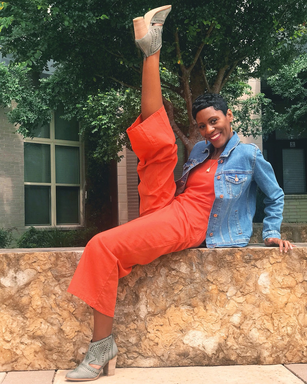 The Perfect Orange Jumpsuit For Dancers In The Summertime