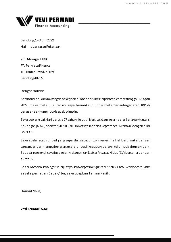 Kop Surat Lamaran Kerja 22