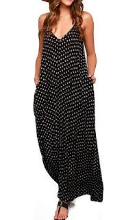 Maxi dress with no waist