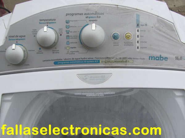 falla común en lavadora mabe easy