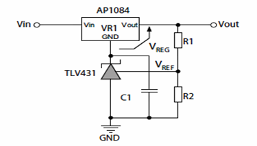 Increasing Output Voltage of a Fixed Linear Regulator Circuit Diagram