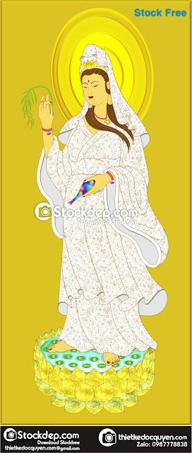 Vector Phật Quan Âm Bồ Phát