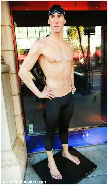 Michael Phelps en el Museo de Cera de San Francisco