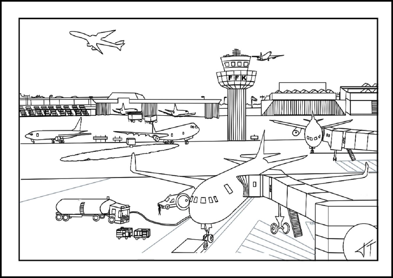 Brinquedos De Papel Aeroporto