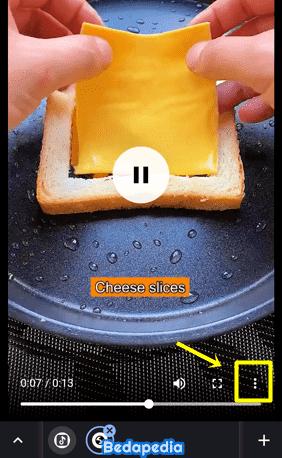 klik titik tiga untuk unduh video dari tiktok