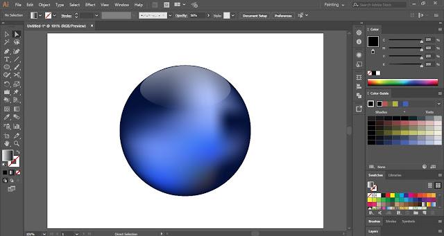Glossy Sphere in Adobe Illustrator