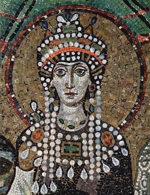 Η Θεοδώρα από ψηφιδωτό του Αγίου Βιταλίου στη Ραβέννα