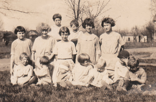 Bickerstaff Cousins in Mineral Ridge, Ohio, about 1925