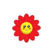 bunga kartun merah