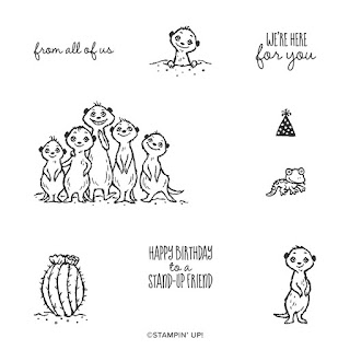Sale-a-Bration meercat stamp set for FREE Jemini Crafts