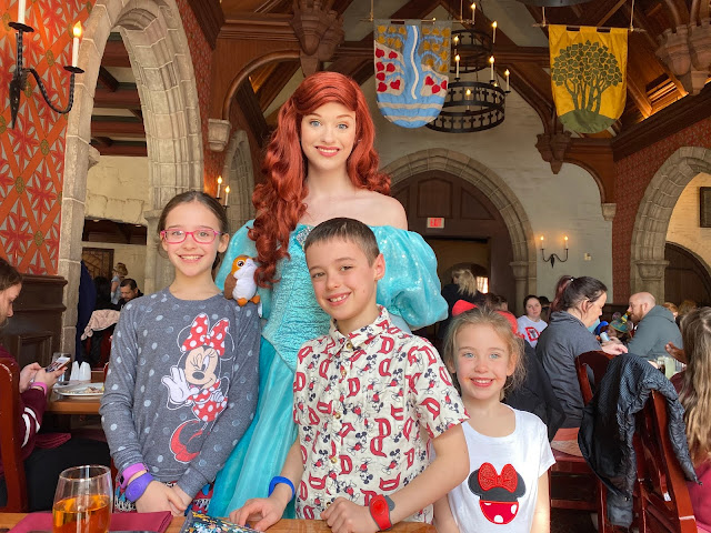 Character Dining with the princesses at Disney World