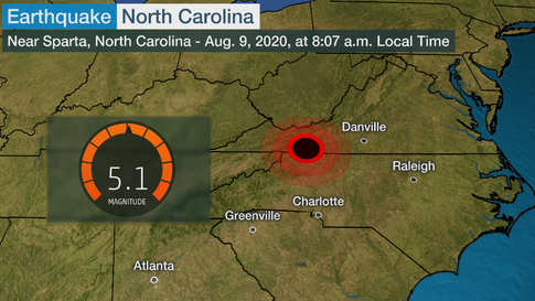 Earthquake in N.C (North Carolina)