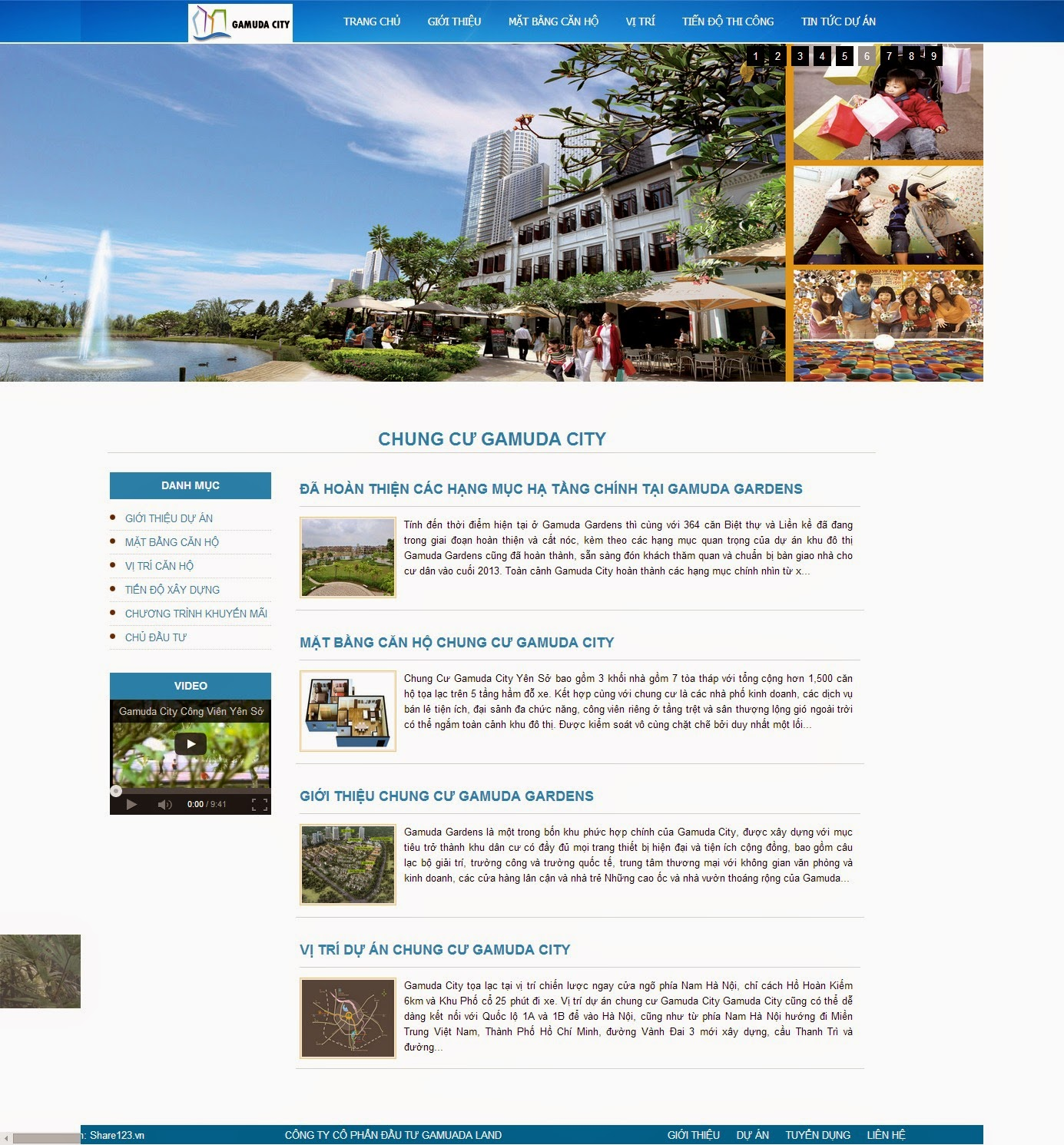 Gamuda city - Mẫu template blogspot bất động sản đẹp
