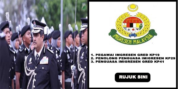 Permohonan Jawatan Kosong Di Jabatan Imigresen Malaysia