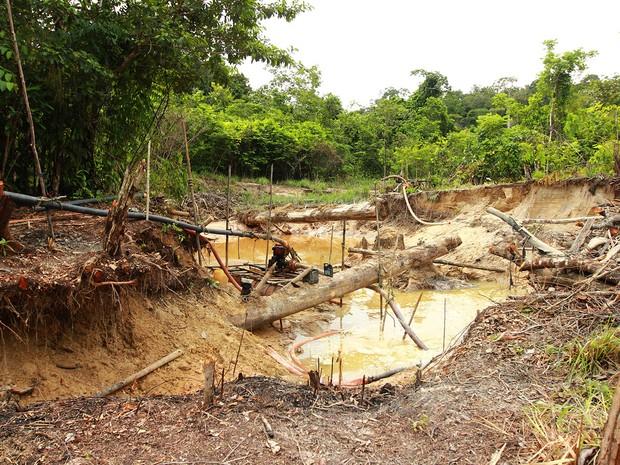 Operação conjunta fecha garimpo próximo da Terra Indígena Zo'é, em Oriximiná (PA)