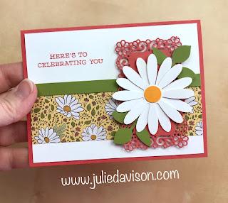 Stampin' Up! Ornate Garden Daisy Card ~ NEW 2020-2021 Annual Catalog ~ www.juliedavison.com
