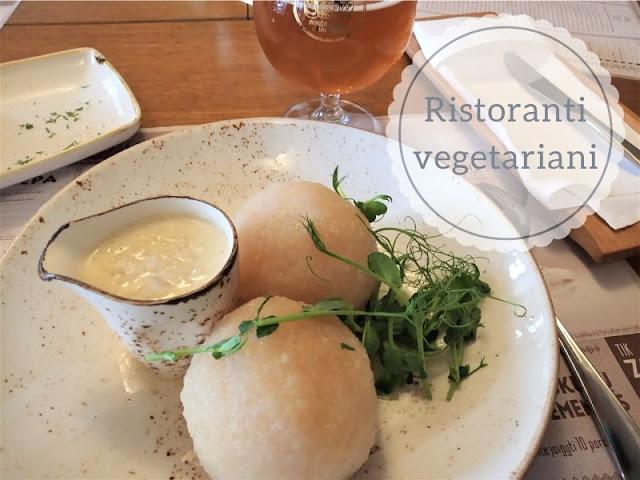 piatto vegetariano di potato dumpling al ristorante etno dvaras