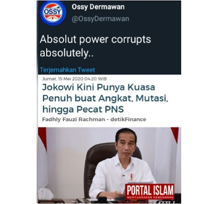 Jokowi Kini Punya Kuasa Penuh Angkat, Mutasi, dan Pecat PNS, Warganet: Ini Siapa Ya ..