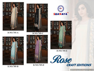 Shanaya Rose Craft Georgette Pakistani Suits wholesaler