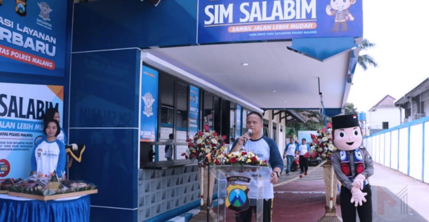 "Polres Malang Launching SIM Salabim Dan Maskot ""SATU JIWA"""