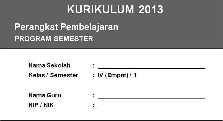 Program Semester Kurikulum 2013 Kelas 4 SD