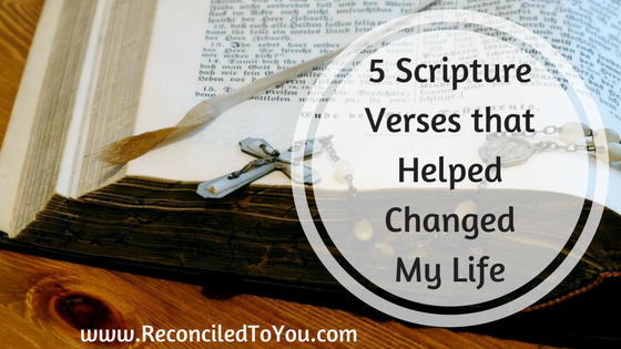 How Scripture Helped Allison Gingras of ReconciledToYou.com overcome anxiety and insecurity . These Scriptures can help you too.