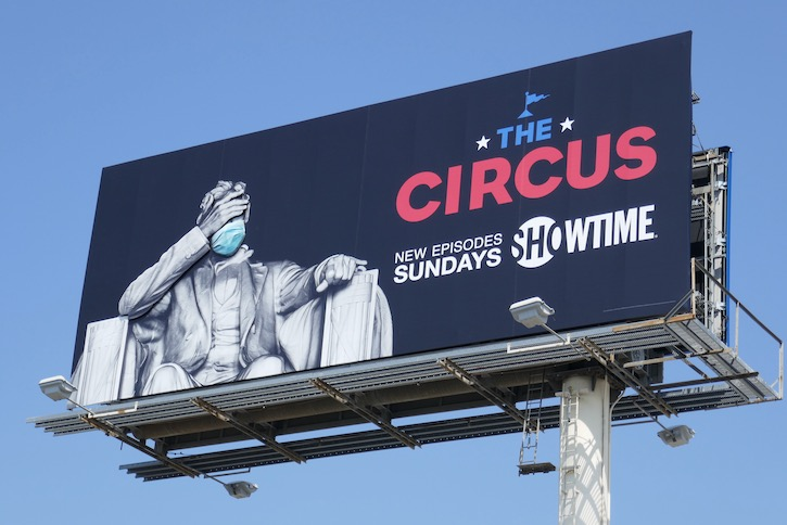 Circus 3D Masked Lincoln Memorial billboard