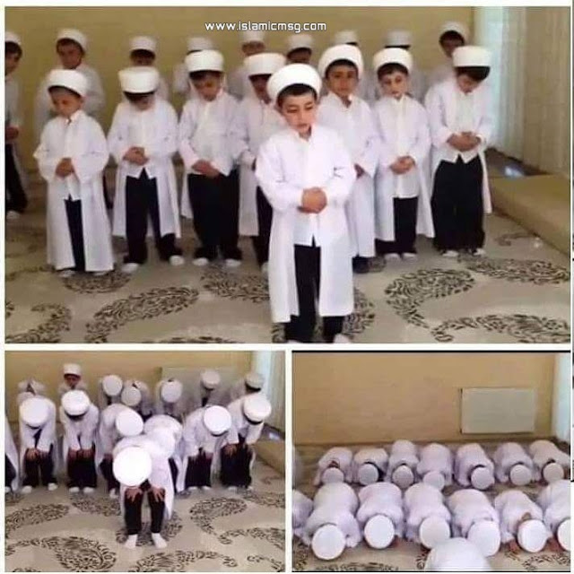 kids praying salat