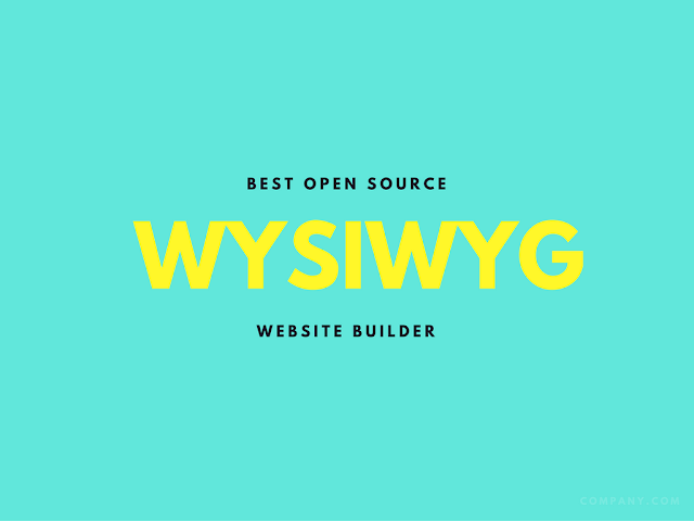 Best Open Source WYSIWYG Website Builders